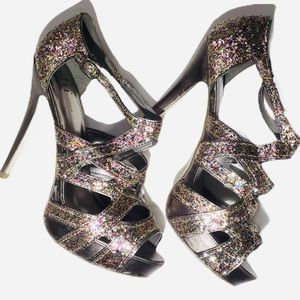 Shï by Journeys Ryder Multi Glitter Heel NWOB